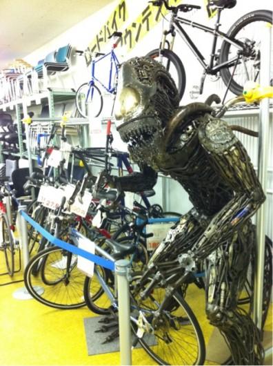自転車コーナー模様替え