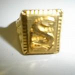 「足金」刻印 純金製リング