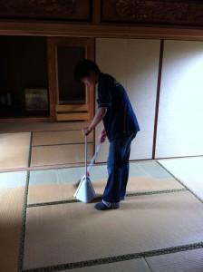 撤去後の掃除