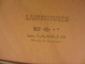 Lammhults(ラムホルツ)キャンパスチェアの裏