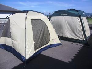 たくさんのテント買取