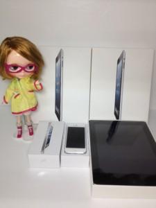 iPhone5とiPadゲットだべ!