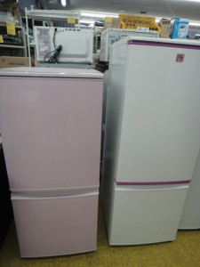♪人気のピンク系冷蔵庫&1ドア冷蔵庫入荷しました~\(^o^)/