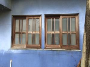 レトロなガラス窓見っけ!