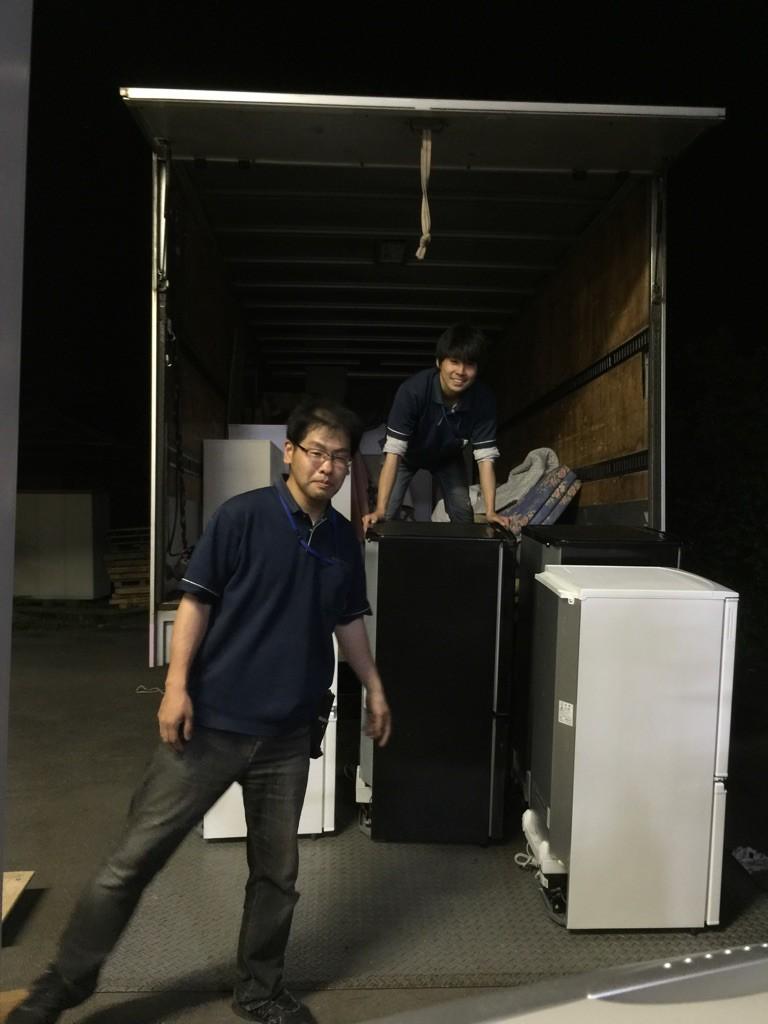 夜の倉庫整理