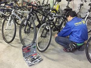 自転車の清掃