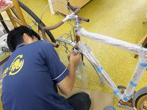 自転車の梱包