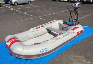 夏Welcome! ジョイクラフトのゴムボートとホンダの船外機