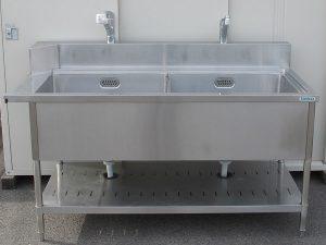 【厨房機器】tanico/タニコー 2槽シンク ステンレス流し台