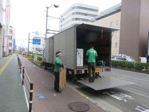 徳島へ、オフィス什器引上げにGO!